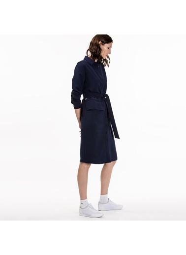 Belden Bağlamalı Uzun Elbise-Lacoste
